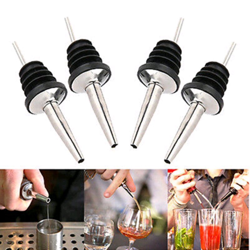 YOSOO 1 pcs Stainless Steel Olive Oil Liquor Wine Free-Flow Bottle Pourer Dispenser Spout Stopper
