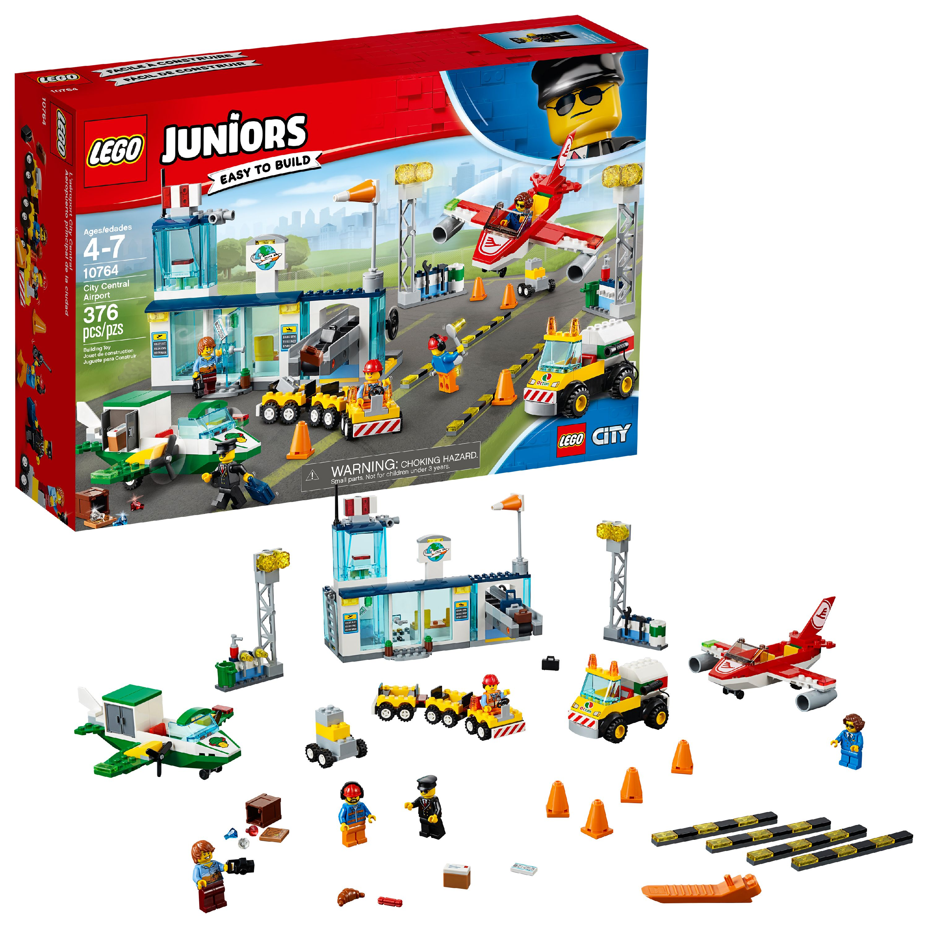 LEGO Juniors City Central Airport 10764 (376 Pieces)