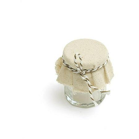 Gartner Studios Fabric Covered Favor Jars, 18pk ()