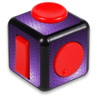 Skin Decal Wrap for Fidget Cube Hand toy sticker stress Purple Diamond Plate