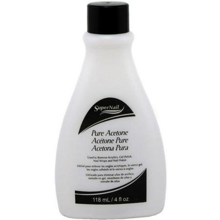 Acetone Nail Polish - Super Nail Pure Acetone Polish Remover 4 Oz