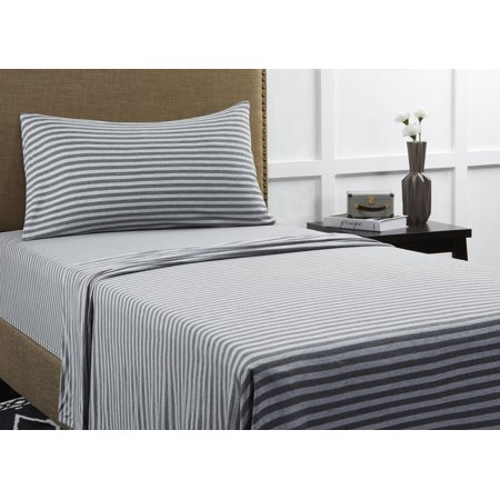 Mainstays Knit Jersey Sheet Set Black And White Sheets