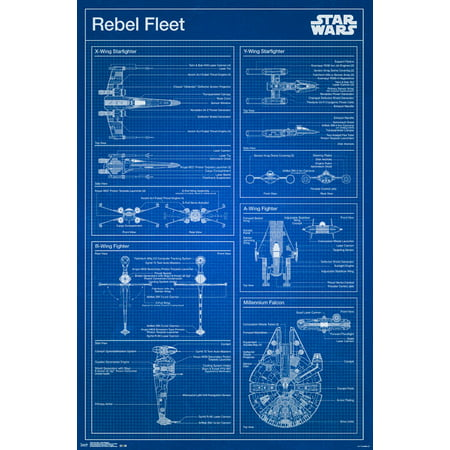 Trends International Star Wars Rebel Blueprint Wall Poster 22.375