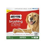 Brushing Chews Daily Dental Treats, Large (30 ct.) , Tastes like a treat, cleans like a toothbrush By Milk-Bone