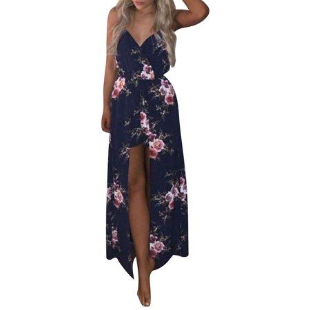 Nlife Women 2 in 1V Neck Floral Print Romper Dress - Romper Adult