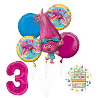 NEW TROLLS POPPY Birthday Party Supplies And Balloon Bouquet Decorations