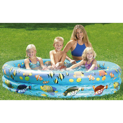 SunSplash Aquarium Inflatable Kiddie Pool