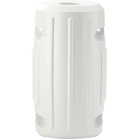 93533-1 Dock Fender Post Slide On White, Molded from soft, lightweight material that's easy on your boat By - Fender Material