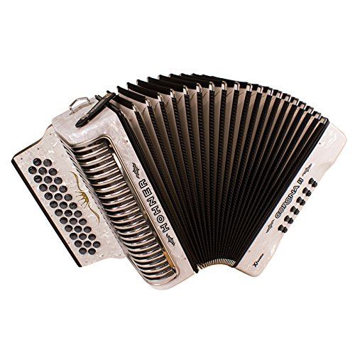 Hohner Button Accordion Corona II XTREME FBbEb, With Gig Bag And Straps, Pearl White