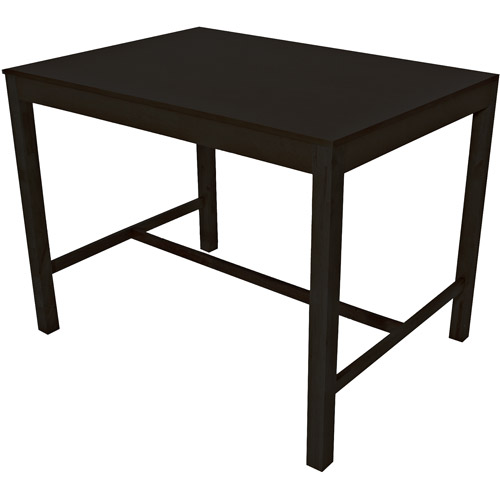 Mainstays Parsons Counter Height Dining Table, Black