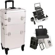 Sunrise I3561DTSL Silver Dot Trolley Makeup Case - I3561