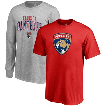 Florida Panthers Fanatics Branded Youth T-Shirt Combo Set - Red/Gray](Florida Panthers Hockey)