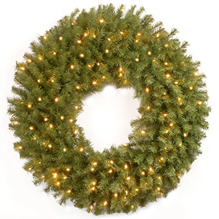 30 Norwood Fir Wreath With Battery Operated Warm White Led Lights