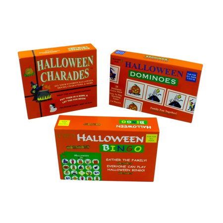 halloween charades halloween bingo and halloween dominoes bundle pack the complete halloween party game set great for halloween parties walmartcom