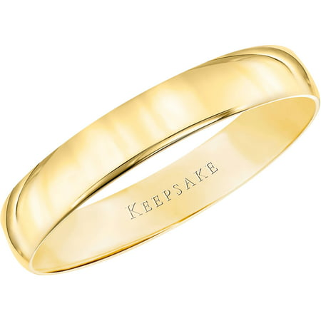 10kt Yellow Gold Comfort Fit Wedding Band, 4mm
