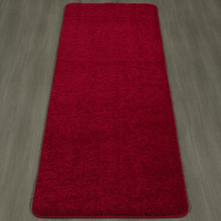 Ottomanson Luxury Collection Solid Shag Area Rugs And Runners With Non Slip Rubber Backing Kitchen And Bathroom Flooring Various Sizes And Colors
