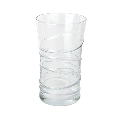 LAV Clear 11.25 Ounce Highball Drinking Glasses | Thick and Durable – Heavy Base – Dishwasher Safe – For Water, Juice, Soda, or Cocktails – Set of 6 Clear Glass Tumblers