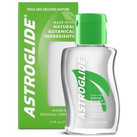 (2 pack) Astroglide Natural Feel Botanical Personal Water Based Lubricant - 2.5