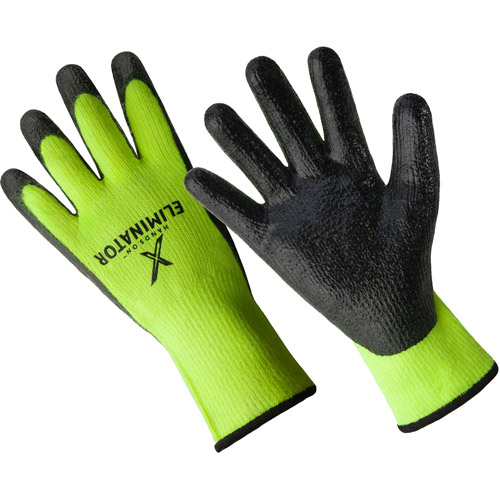 Hands On The Eliminator Premium Lined Smooth Nitrile Coated Glove.