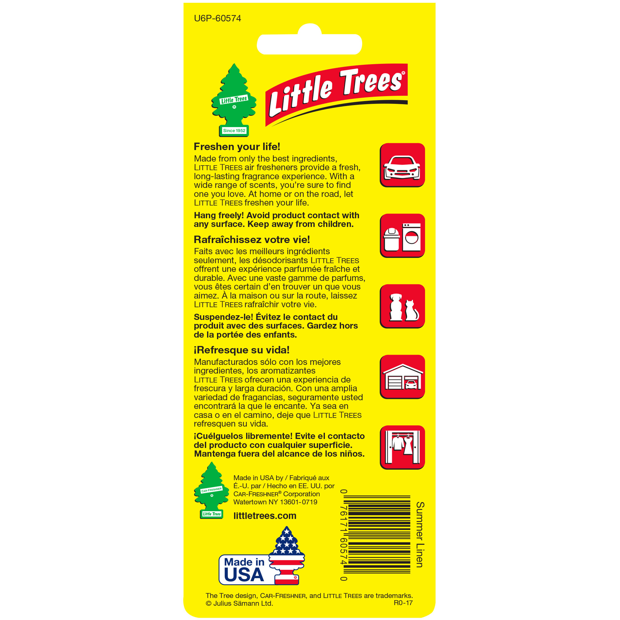 LITTLE TREES air freshener Summer Linen 6 Pack Walmart