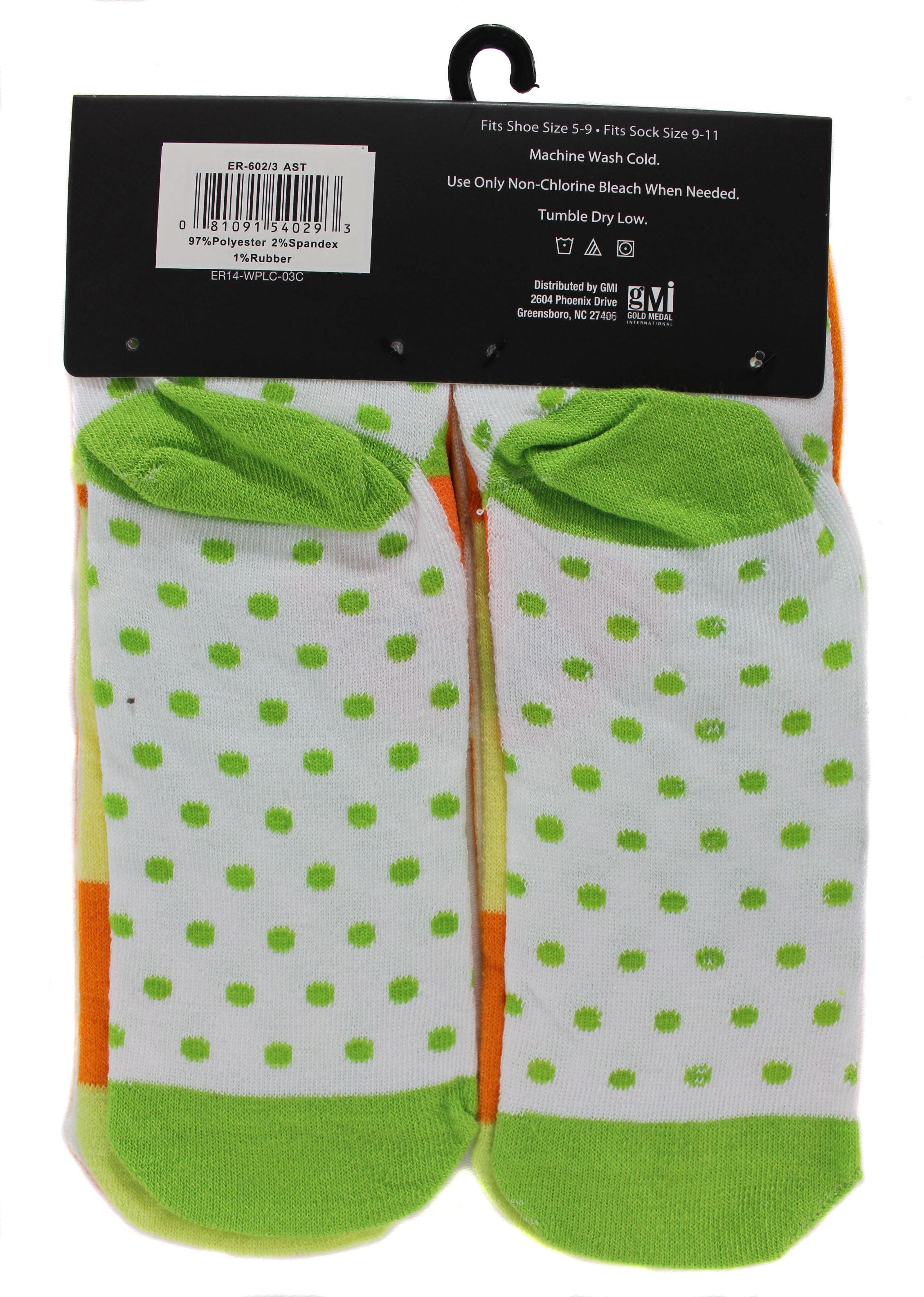 Women's Citrus Flower Ankle Low Cut Socks Size 9-11 Gray