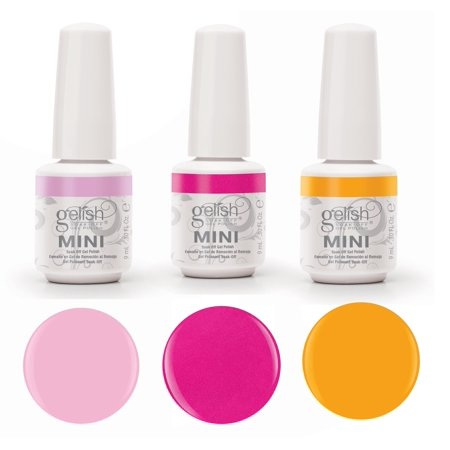 Gelish Neon Street Beat 3 Color Gel Nail Polish Kit Includes 9ml Bottles