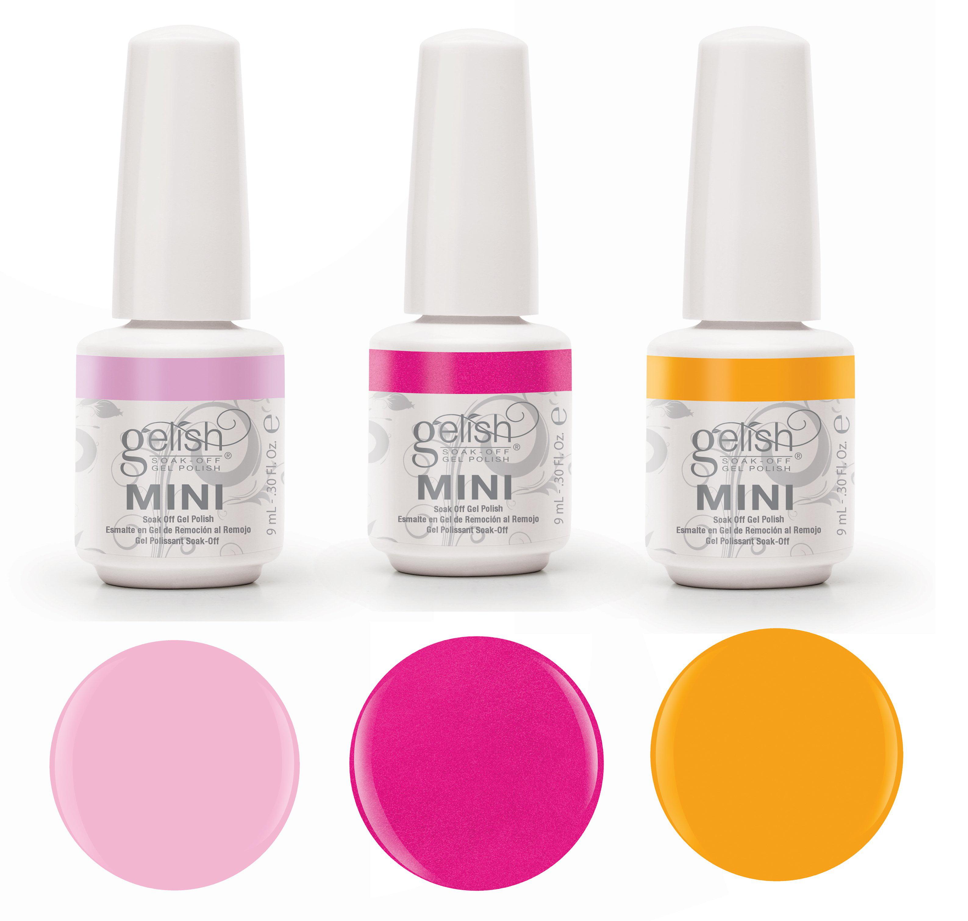 Gelish Neon Street Beat 3 Color Gel Nail Polish Kit -  Includes 3 9mL Bottles