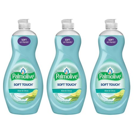 (3 Pack) Palmolive Ultra Soft Touch Liquid Dish Soap, Aloe and Citrus - 20 fl oz - Palmolive Dish Detergent