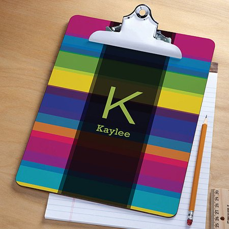Personalized Colorful Stripes Clipboard Walmart Com