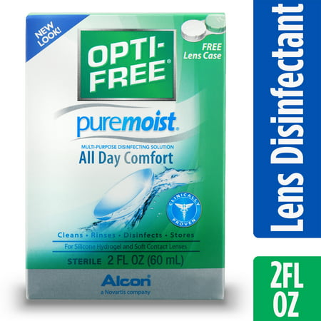 OPTI-FREE Puremoist Multipurpose Contact Lens Disinfecting Solution, 2 Fl. (Halloween Contact Lenses)