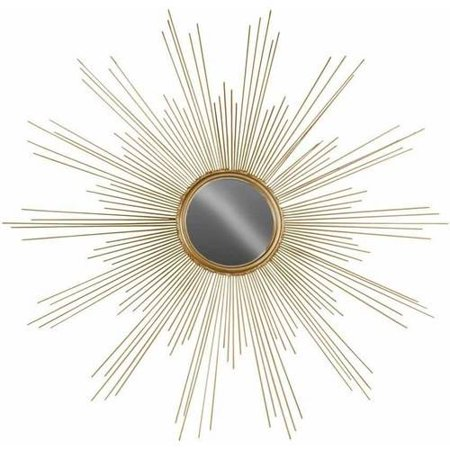 Urban Trends Collection: Metal Wall Mirror, Metallic Finish, Gold ()