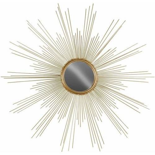 Urban Trends Collection: Metal Wall Mirror, Metallic Finish, Gold
