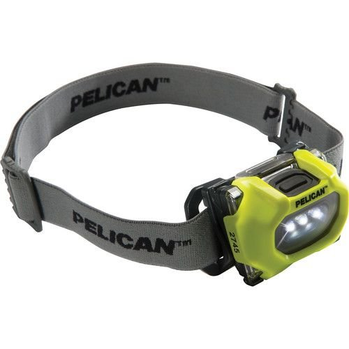 Pelican 027450-0100-245 33/17-Lumen 2745 Safety Approved 3-LED Headlight, Yellow