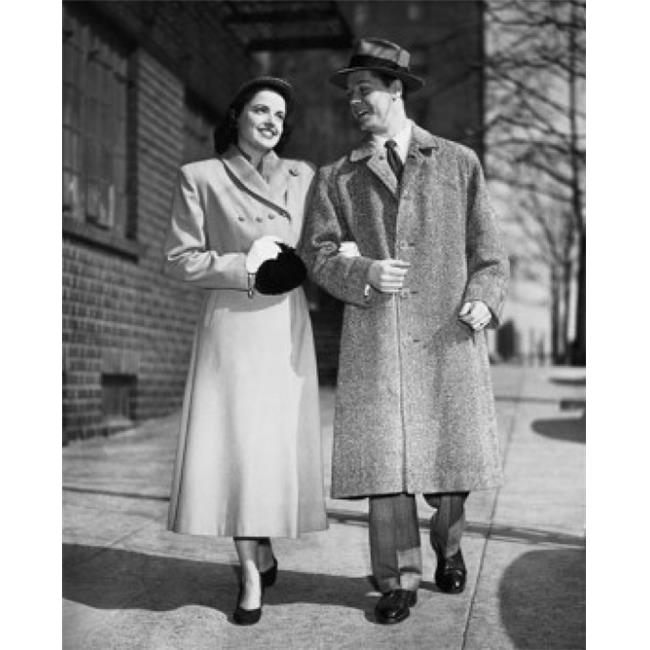Posterazzi SAL2555053B Young Couple Walking on a Sidewalk Poster Print - 18 x 24 in. - image 1 of 1