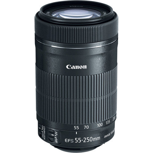 Canon EF S 55 250mm F/4 5.6 IS Telephoto Zoom Lens For SLR Cameras