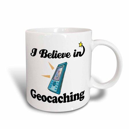 3dRose I Believe In Geocaching, Ceramic Mug, 11-ounce