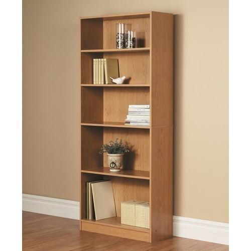 Orion 72 5 Shelf Wide Bookcase Oak Walmart Com