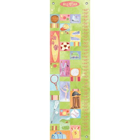 Oopsy Daisy - Growth Chart All-Star Girl 12x42 By Donna Ingemanson Star Girl Growth Chart