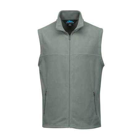 Fleece Zipper Vest - TM Men's Polar Fleece Vest W/ Slash Zipper Pockets