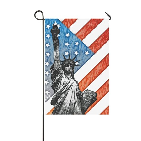 MYPOP American Statue of Liberty Garden Flag House Banner 12 x 18 inch - Statue Of Liberty Outfit