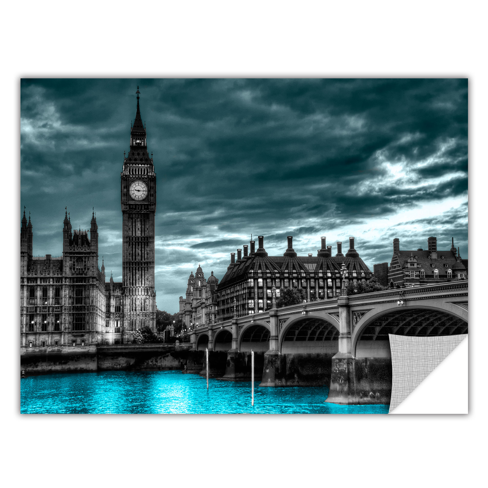 ArtWall ArtApeelz 'London' by Revolver Ocelot Graphic Art on Wrapped Canvas