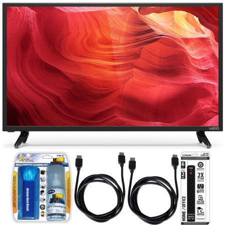 Vizio E48u-D0 – 48-Inch SmartCast Full-Array UHD Home Theater TV Accessory Bundle includes Television, Screen Cleaning Kit, 2 HDMI Cables and 6 Outlet Power Strip with Dual USB Ports