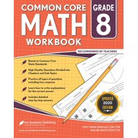 8th grade Math Workbook: CommonCore Math Workbook (Paperback)