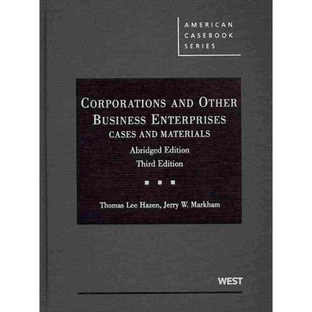 Corporations And Other Business Enterprises  Cases And Materials