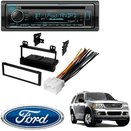 Kenwood eXcelon CD Receiver w/Bluetooth Front USB SiriusXM Ready Spotify, Pandora for iPhone or Android phones FORD 1995 - 2005 EXPLORER (ALL MODELS) CAR STEREO DASH INSTALL MOUNTING KIT (Mount Kit Explorer)