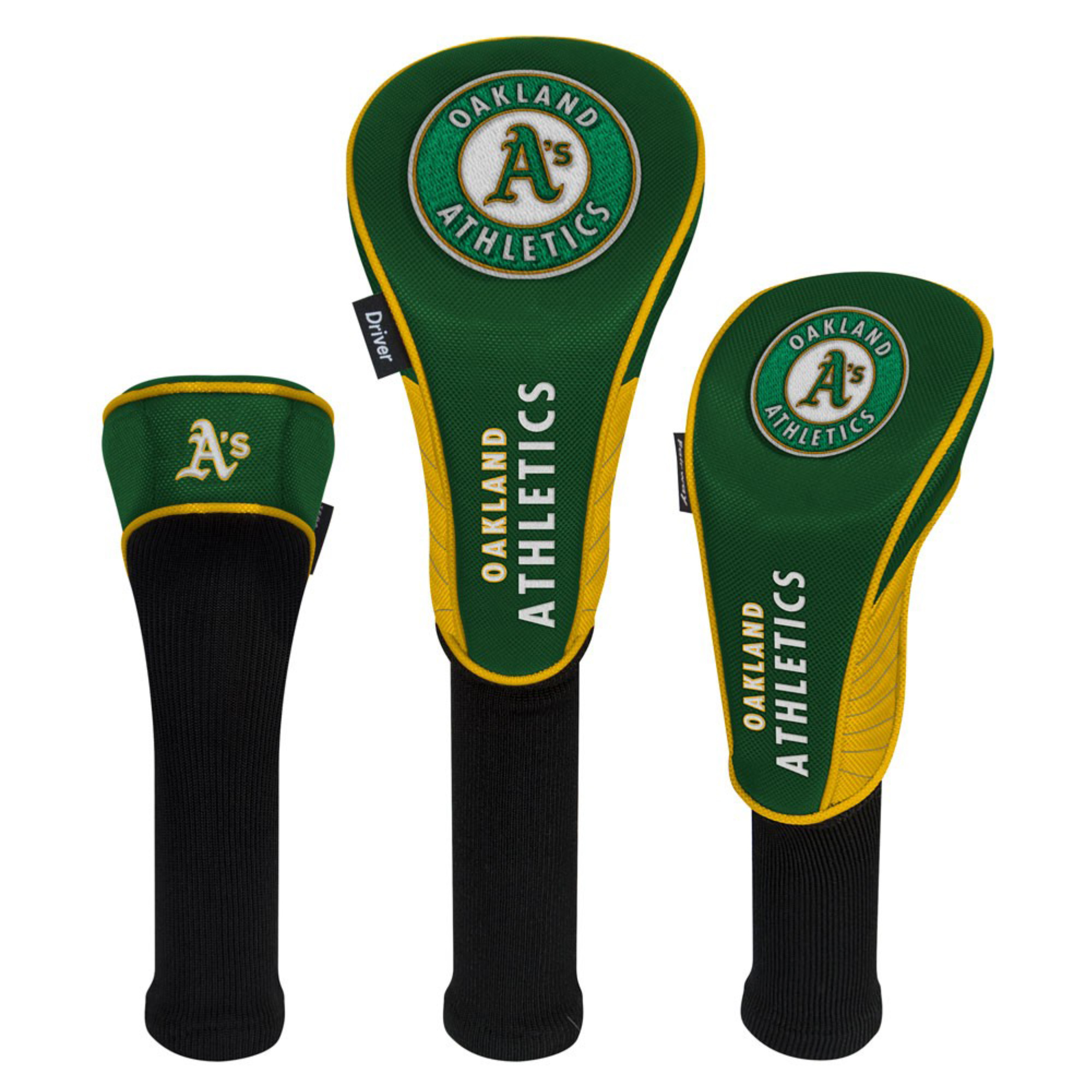Oakland Athletics Driver Fairway Hybrid Set of Three Headcovers - No Size