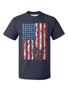 7fa84630 Product Image P&B Distressed USA Flag 4th of July Independence Day Men's T- shirt, Black,