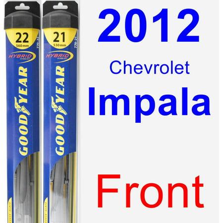 Chevrolet Impala Hybrid (2012 Chevrolet Impala Wiper Blade Set/Kit (Front) (2 Blades) - Hybrid)