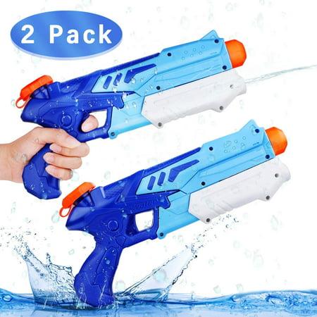 Super Water Gun for Kids, 2 Pack Water Soaker Blaster Squirt-Gun Long Range Water Blaster for Teens Beach Swimming Pool Water Fighting Toy Illinois Fighting Illini Pool