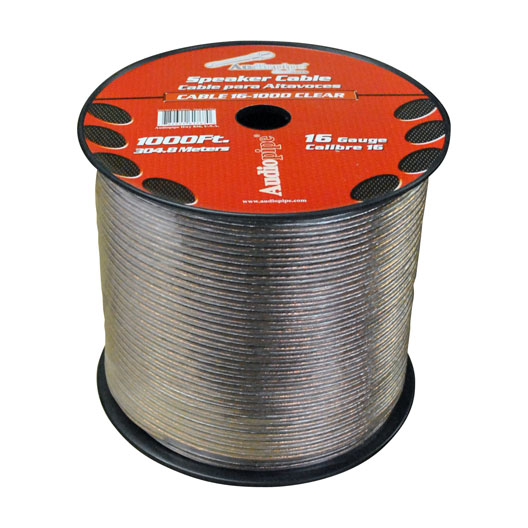 SPEAKER WIRE AUDIOPIPE 16 GA 1000' CLEAR